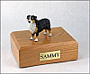 Australian Shepherd, Tri-Color Standing Dog Figurine Cremation Urn