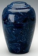 Navy Grecian Marble Cremation Urn