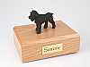 Schnauzer, Black - ears down Dog Figurine Cremation Urn