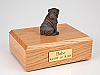 Shar Pei, Chocolate Dog Figurine Cremation Urn