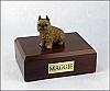 Brussels Griffon,  Red Sitting Dog Figurine Cremation Urn