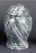 Small Gray Marble Cremation Urn