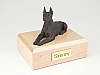 Doberman, Bronze - ears up  Dog Figurine Cremation Urn
