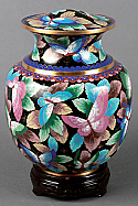 Royal Butterfly Cloisonne Cremation Urn