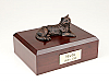 Tabby, Bronze Sitting Cat Figurine Cremation Urn