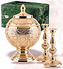 Brass Memorial Cremation Set