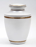 Majestic Pearl White Brass Cremation Urn
