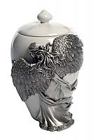Angel Wings Keepsake Cremation Urn Pewter
