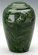 Emerald Grecian Marble Cremation Urn