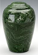 Emerald Grecian Marble Cremation Urn