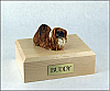 Pekingese, Brown Dog Figurine Cremation Urn