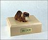 Pekingese, Brown Dog Figurine Cremation Urn