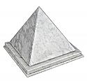 Bianco Carrera Pyramid Adult Cremation Urn