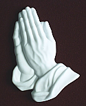 White Marble Praying Hands Applique