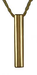 Gold slider cylinder pendant Cremation Urn
