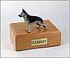 German Shepherd, Black/Silver Standing  Dog Figurine Cremation Urn