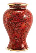 Etienne Autumn Leaves Cloisonne Cremation Urn Large