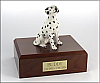 Dalmatian, Sitting Dog Figurine Cremation Urn