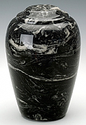 Black Grecian Marble Cremation Urn