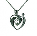 Double heart pendant urn