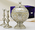 Silver Gold Cremation Urn Set