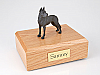 Great Dane, Black - ears up Standing Dog Figurine Cremation Urn