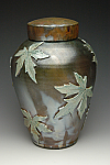 Falling Leaves Maple Raku Cremation Urn