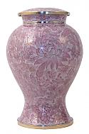 Etienne Pink Adult Cloisonne Cremation Urn