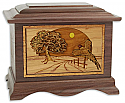 Pheasant Flying Cremation Urn