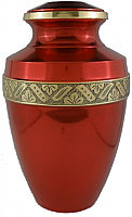 Dora Red Brass Keepsake Cremation Urn