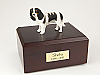 King Charles Spaniel, Black Dog Figurine Cremation Urn