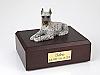 Schnauzer, Silver Dog Figurine Cremation Urn
