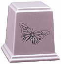 Temple Cultured Granite Cremation Urn with Butterfly - Choose Colors