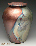 Small Beautifully Simple Raku Cremation Urn