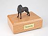 Great Dane, Black - ears down Standing Dog Figurine Cremation Urn