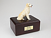 Golden Retriever, Blond Ears Down Dog Figurine Cremation Urn