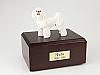 Bichon Frise Milky White Standing Dog Figurine Cremation Urn