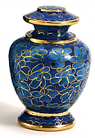 Azure Essence Cremation Urn Keepsake Set