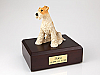 Fox Terrier  Dog Figurine Cremation Urn