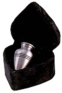 Brushed Pewter Finish Brass Keepsake Cremation Urn