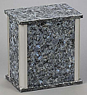 Blue Pearl Granite Adult Cremation Urn with Trim