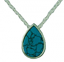 Turquoise teardrop pendant Cremation Urn
