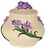 Hand Painted Iris Cremation Urn