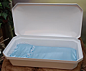 "At Peace Large 32"" White/Blue Pet Casket"