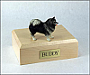 Keeshond Dog Figurine Cremation Urn