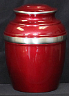 Pewter Burgundy Cremation Urn