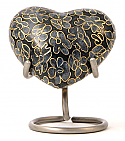 Slate Essence Heart Keepsake Cloisonne Cremation Urn