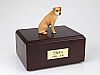 Border Terrier Golden Sitting Dog Figurine Cremation Urn