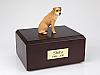 Border Terrier Golden Sitting Dog Figurine Cremation Urn
