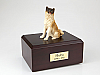 Akita Japanese Sitting Dog Figurine Cremation Urn